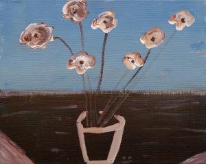Bladlös blomma, 2009, målning