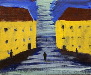 Hyreshus, 2011, målning