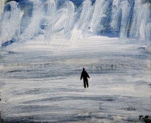 Snöoväder, 2015, målning