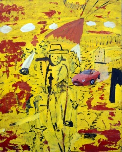 Stadspromenad, 2005, målning