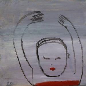 Ryggsimmare, 2015, målning
