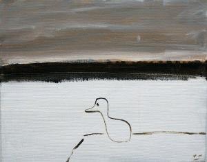 Kväll vid vatten, 2011, målning