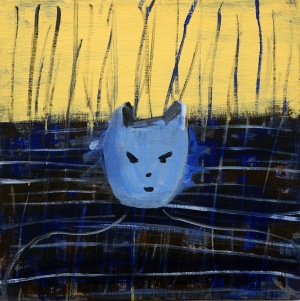 Kvinnlig katt, 2008, målning